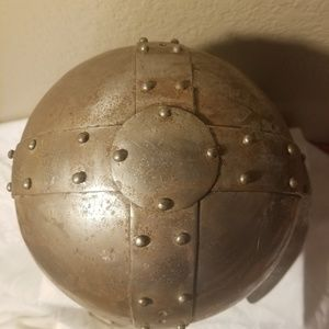 none Other - Vintage Metal Medieval Armor Helmet